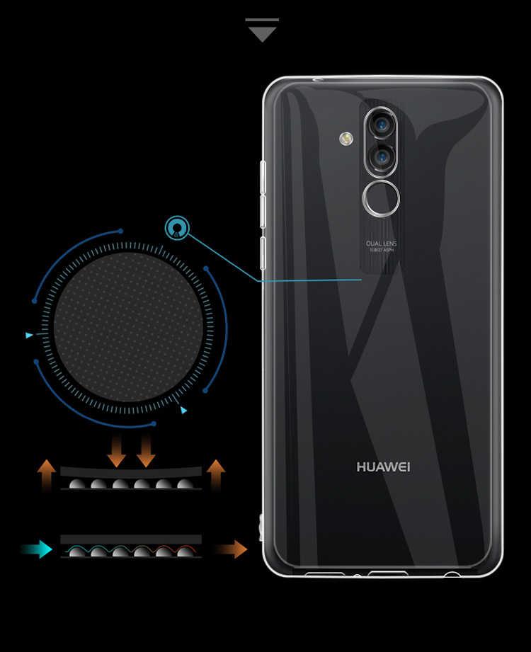 Şeffaf TPU kılıf Huawei P20 P30 Mate 20 10 Lite Y6 Y7 Y9 2019 P40 kılıf için Huawei onur 10i 20i 8X 30S 9A