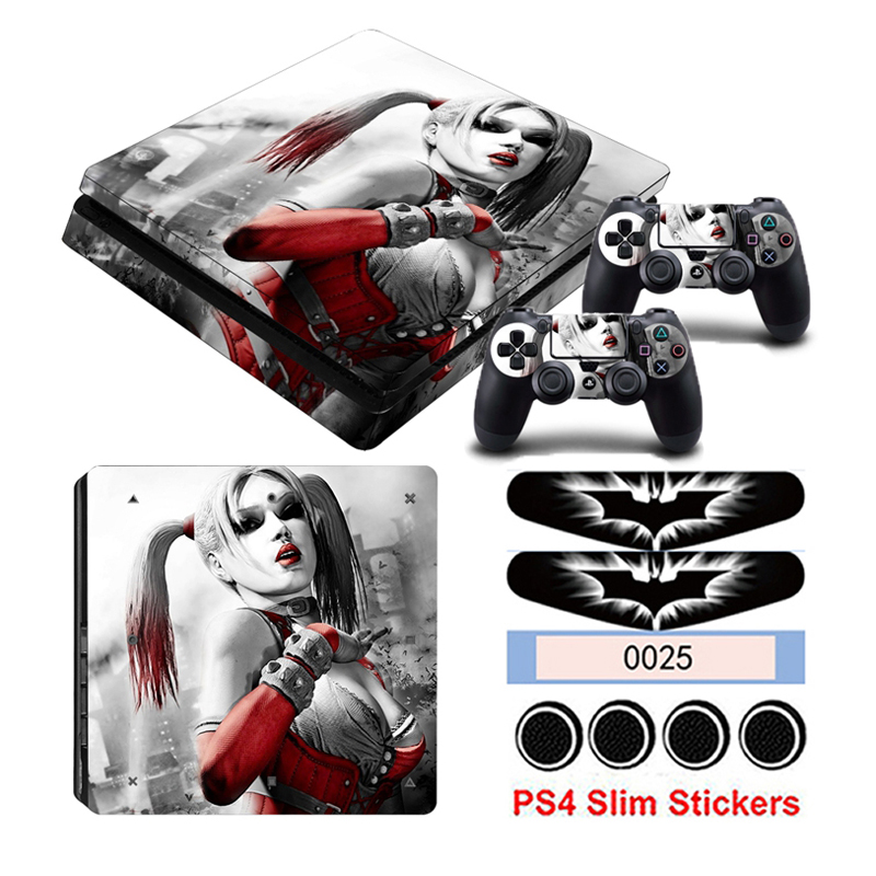 Game Harley Quinn PS4 Slim Stickers For Playstation 4 Slim Console&Controller Skin Decals Protective Sticker