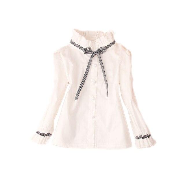 9d2c318113be6 BIE tie patchwork adolescente blusa blanca 100% algodón escuela niña blusa  para Niñas Camisas ropa