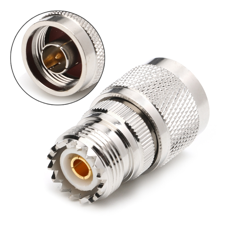 OOTDTY 1PC NJ/UHFK RF Coaxial Cable UHF Female to N Male High Frequency Adapter Connector