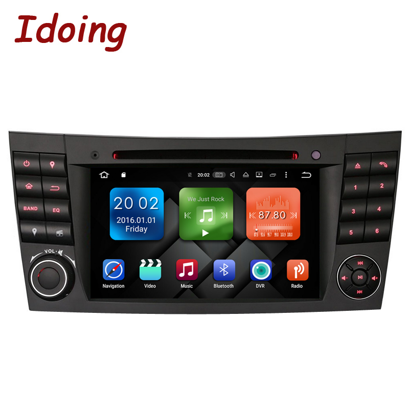 Idoing Android6 0 2G 32G 8Core Steering Wheel For MercedesBenz E Class W211 Car Multimedia Player