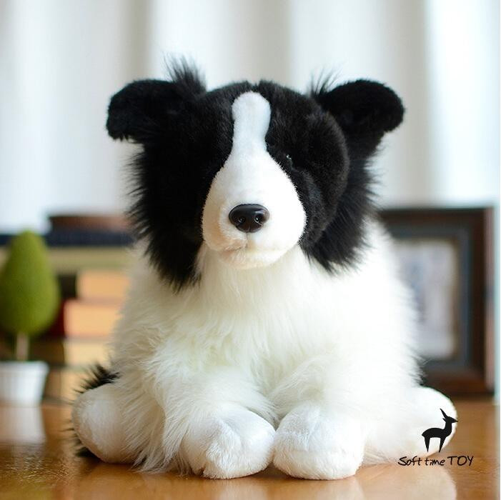 Cute Dogs Large Dolls Plush Toys Gift  Stuffed Animal Children's Toy  Doll  Simulation Border Collie