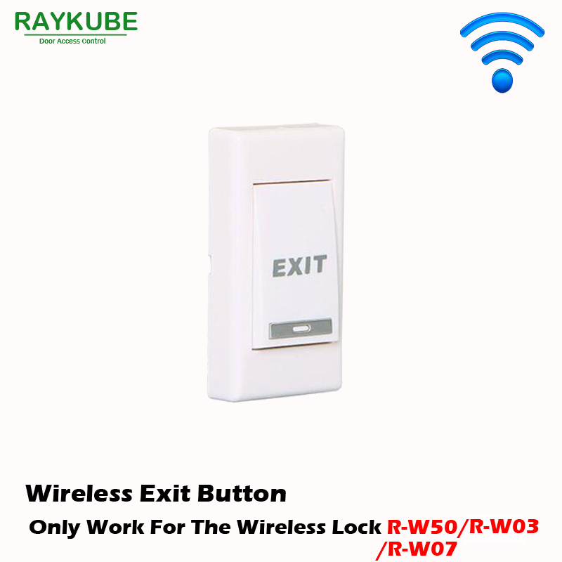RAYKUBE Wireless Exit Button Use For Our Wireless Door Lock R-WP1 wp1