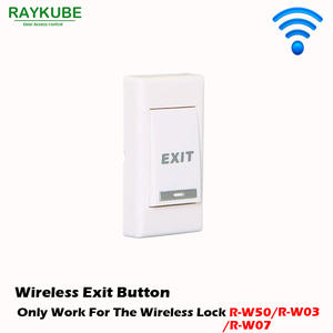 RAYKUBE Wireless Exit Button Use For Our Wireless Door Lock R-WP1