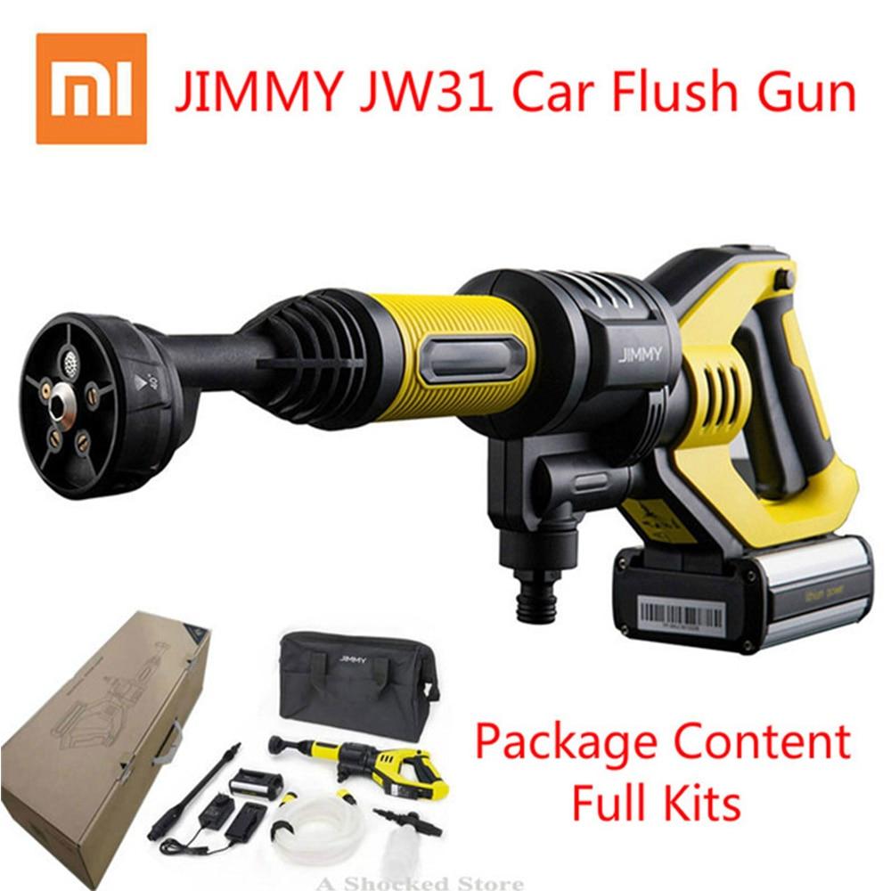 Xiaomi JIMMY JW31 Voiture Flush Gun pistolet de lavage JW31 Sans Fil Sans Fil De L'eau le Pouvoir Nettoyant Jardin Rondelle 5 Modes Réglable Tuyau 6 M