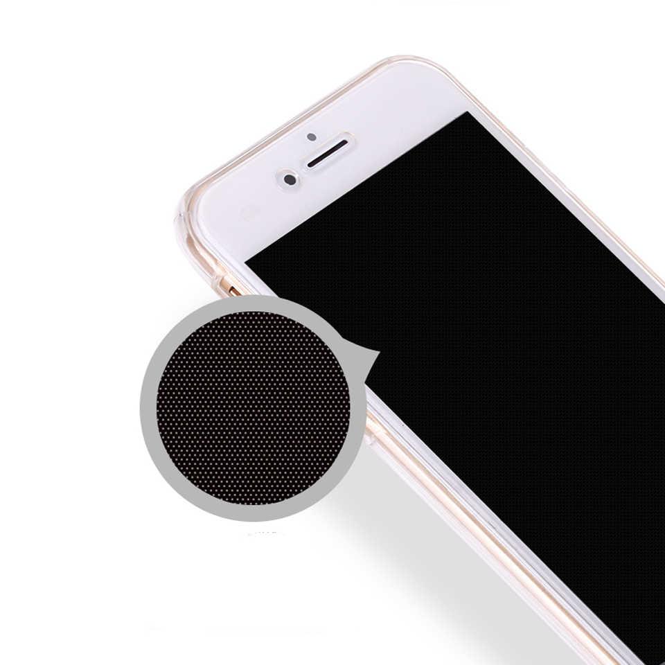 360 claro teléfono casos para iPhone 7 Plus SE 5S 6 6 s 8 X XR XS MAX Huawei P30 Pro p20 Lite P10 amigo 20 10 cubierta de silicona caso