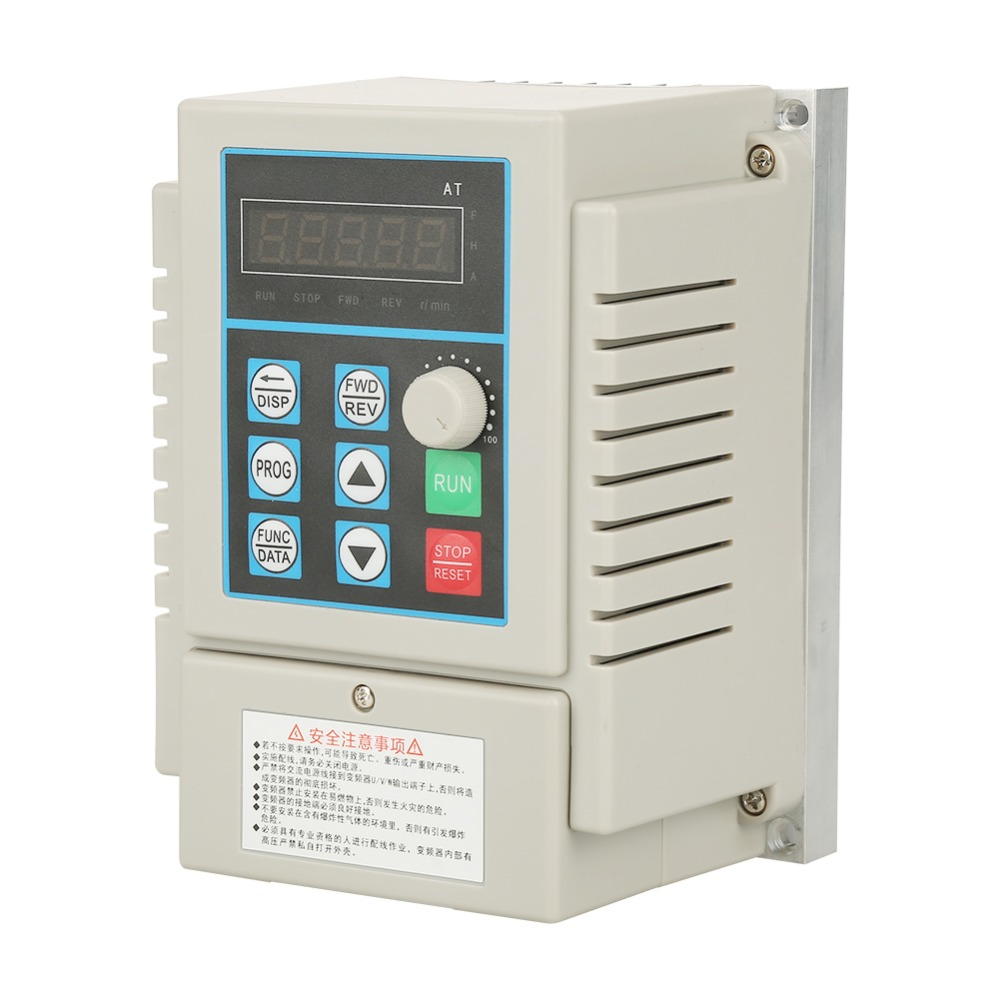 AT2-0750X PWM Control AC 220V Variable Frequency Drive VFD Speed Controller for Single-phase 0.75kW AC Motor 10 50v 100a 5000w reversible dc motor speed controller pwm control soft start high quality