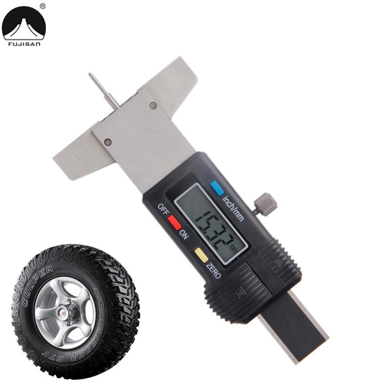 Digital Depth Gauge 0-25.4mm/0.01 Stainless Steel Tire Tread Measure Caliper цены