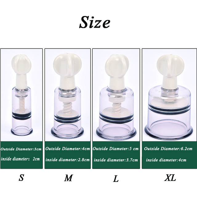 4 Size Rotating Handle Vacuum Body Massage Cans Suction Enhancer Anti Cellulite Acupuncture Vacuum Cupping Cups Nipple Enlarger 5