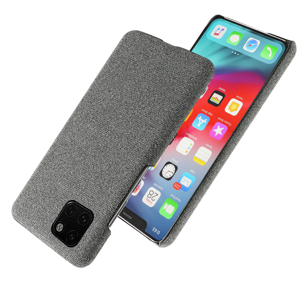 for iPhone 11 pro Max 2019 Case Slim Back Hard PC Woven Shockproof Cloth Cover for iPhone X XS Max XR 5 5S SE Case Luxury