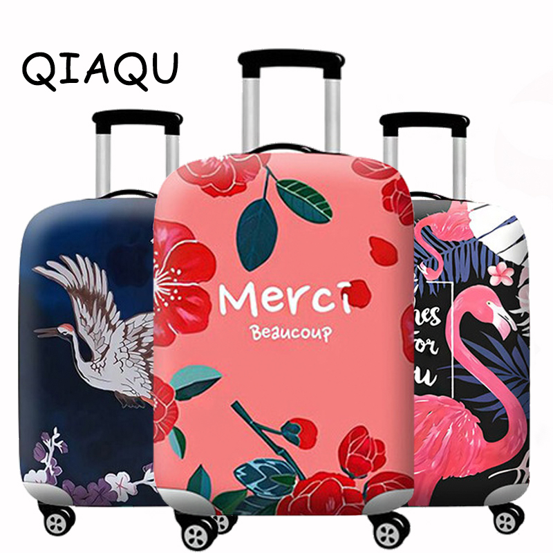 QIAQU Now Elastic Luggage Protective Cover Suitable For 18-32 Inch Trolley Case Thicker Suitcase Dust Cover Travel Accessories