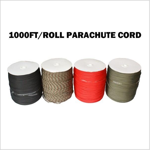 1000Ft 550 Paracord paracaídas cordón cuerda Mil Spec tipo III 7 hebra Core 300 metros-in Cables from Hogar y Mascotas    1