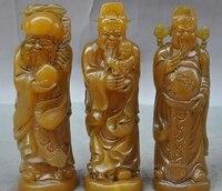 Çin Shoushan taş el oyma Ömür Tanrılar Fukurokuju 3 Buda Heykeli Seti|statue mold|buddha statue wholesalebuddha ring -