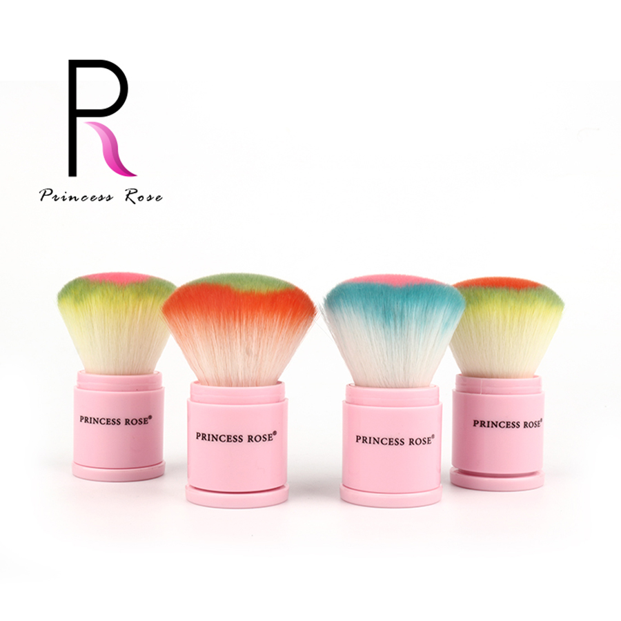 Princess Rose Retractable Heart Shape Foundation Blush Cream Powder Kabuki Brush Make Up Brush Makeup Brushes Pinceaux Brochas 1pc professional makeup brush flawless blush powder pinceis brush rose gold metal large kabuki make up brush gub
