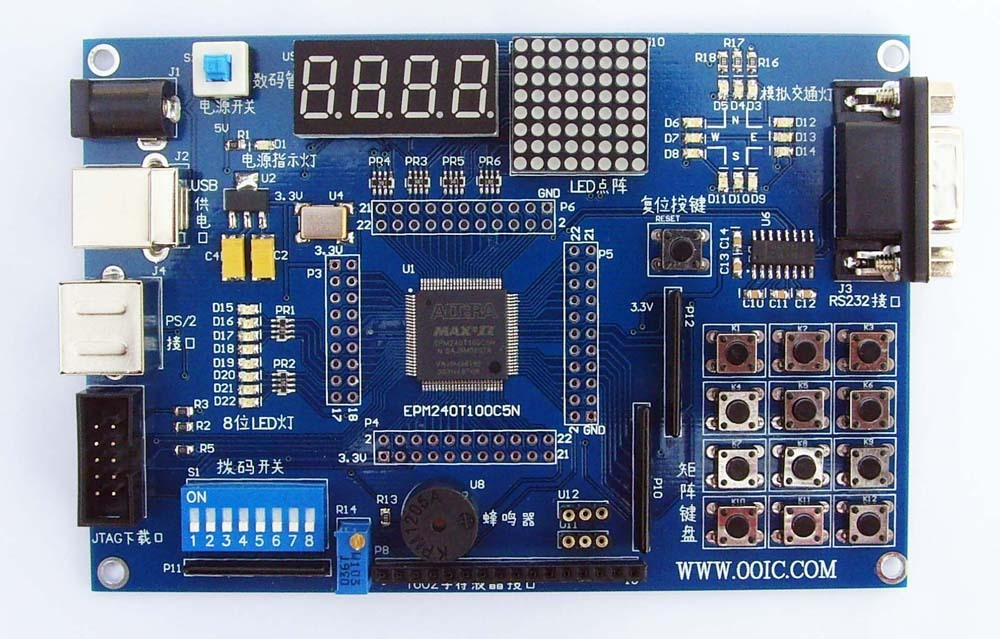 EPM240 development board + introductory video CPLD development board, learning board FPGA development board