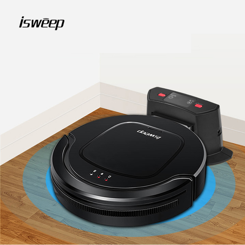 Isweep A6 Robot Vacuum Cleaner for Home Appliances 1000PA Automaticly Charging Dry and Self-Charge Wet Mopping Smart Sweeper eworld 2017 wet robot vacuum cleaner for home floor clean wet dry cleaner double filter self charge m883 cordless robot cleaner