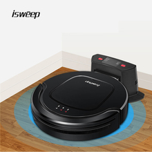 Isweep Robot Vacuum Cleaner for Home Appliances 1000PA Automaticly Charging Dry and Self-Charge Wet Mopping Smart Sweeper S550 2017 wet and dry mopping robot vacuum cleaner for home with water tank 500ml dustbin 1000pa suction power auto charge vacuum