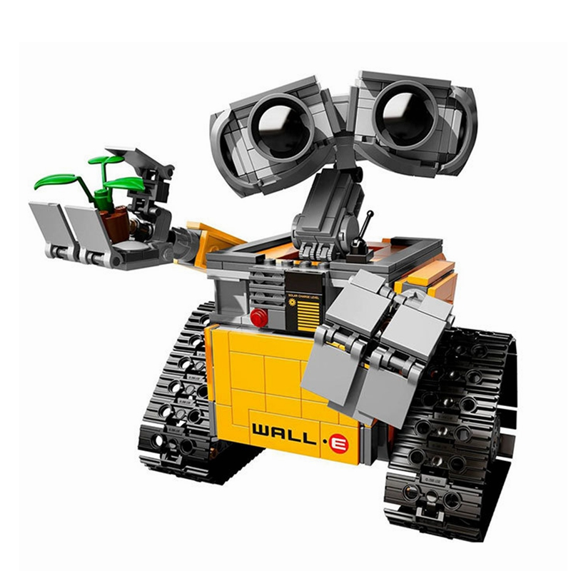 2018 New 687pcs Idea Robot Wall E Wall-e Building Blocks Kit Toys For Children Education Gift Compatible With Legoinglys Bricks Toys & Hobbies
