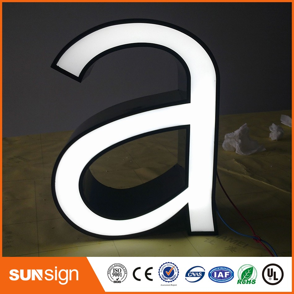 Wholesale Frontlit LED Metal Letters For Signs