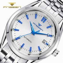 цена FNGEEN Fashion Business Men Luxury Watch Casual Calendar Wristwatches Male Waterproof Luminous Mechanical Watches relogio онлайн в 2017 году