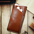 Luxury Genuine Leather Wallet Pouch Cover Case For iPhone 7 6 6s 4.7 For iPhone 7 Plus 6 6s Plus Soft Phone Bags With Card Slots