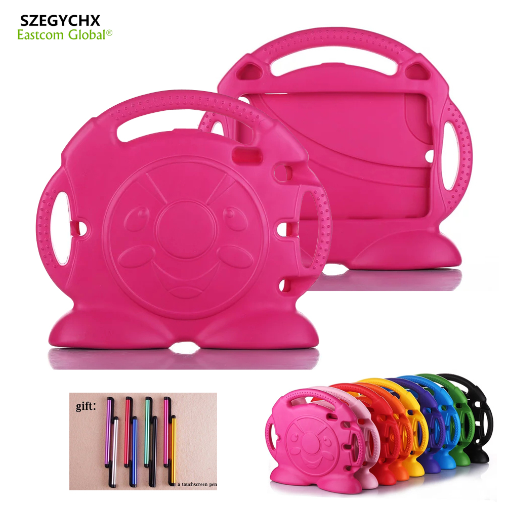 SZEGYCHX Case For iPad mini123 Mini4 General Thomas handgrip Stand Shock Proof EVA Body Cover Kids Children Safe Silicone Shell