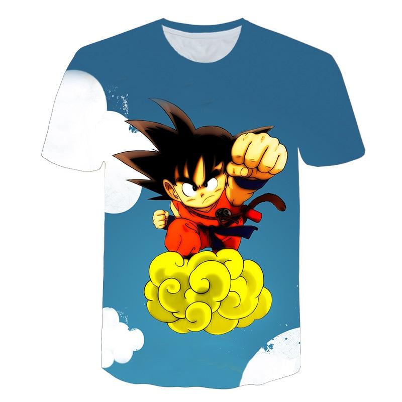 Dragon Ball Z Men's Summer T-shirts 3D Printing Super Saiyan Kid Son Goku Black God Zamasu Vegeta Jiren Dragonball T Shirt Tops