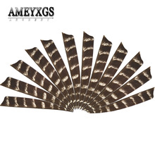 50pcs Archery Arrow Feather Right Wing Shield 5 Inch Natural Turkey Vanes fletched Accessories
