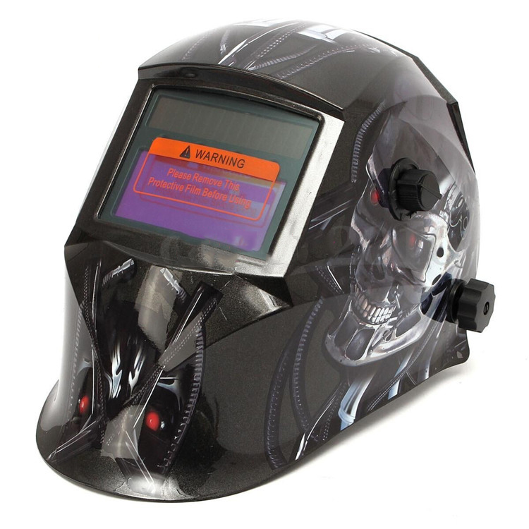High Performance Solar Auto Darkening Welding Helmet Cap for Arc Tig Mig Skeleton Welding Mask din7 din12 shading area solar auto darkening welding helmet protection face mask welder cap for zx7 tig mig welding machine