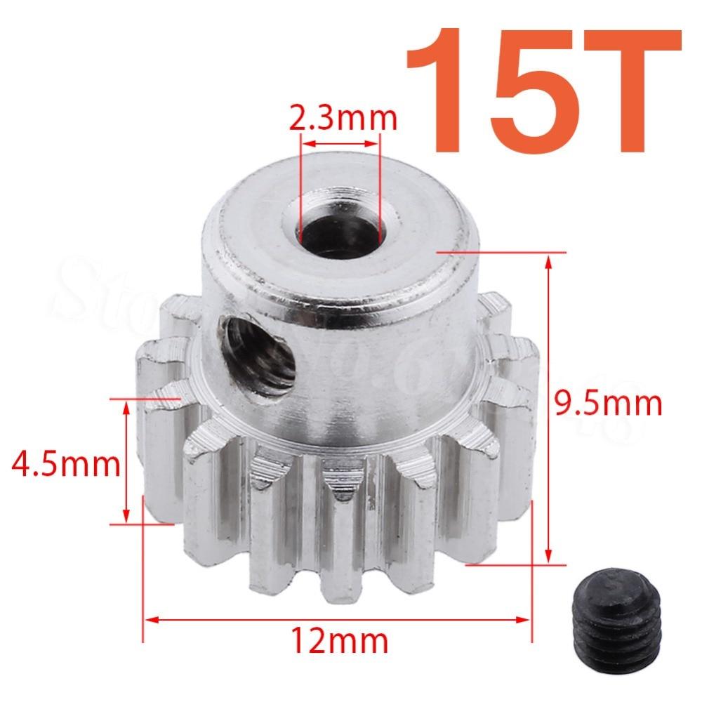 Aço metal motor pinhão engrenagem 15 t dentes para rc 1/18 wltoys A959-B A969-B A979-B K929-B acessórios do carro