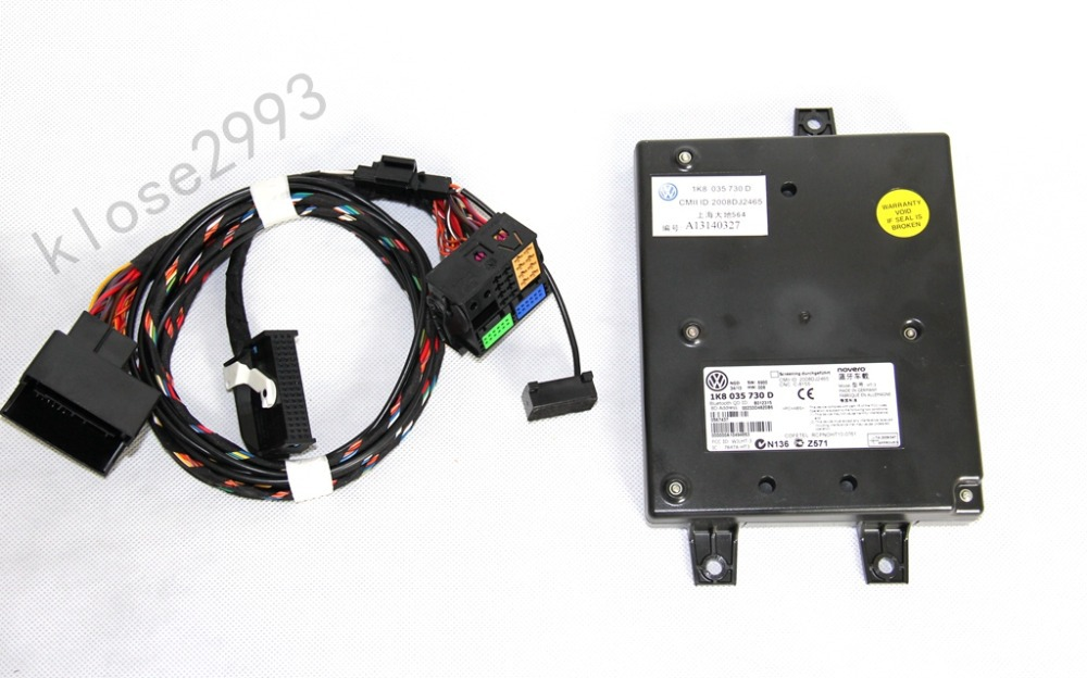 Vw Bluetooth Module 9w2 Fit Rcd510 Rcd310 1k8035730d Harness With