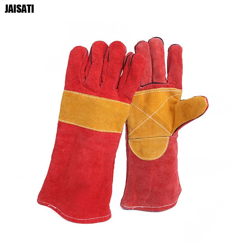 Barbecue gloves fireproof leather outdoor heat-resistant high temperature anti-scalding glovesBarbecue gloves fireproof leather outdoor heat-resistant high temperature anti-scalding gloves