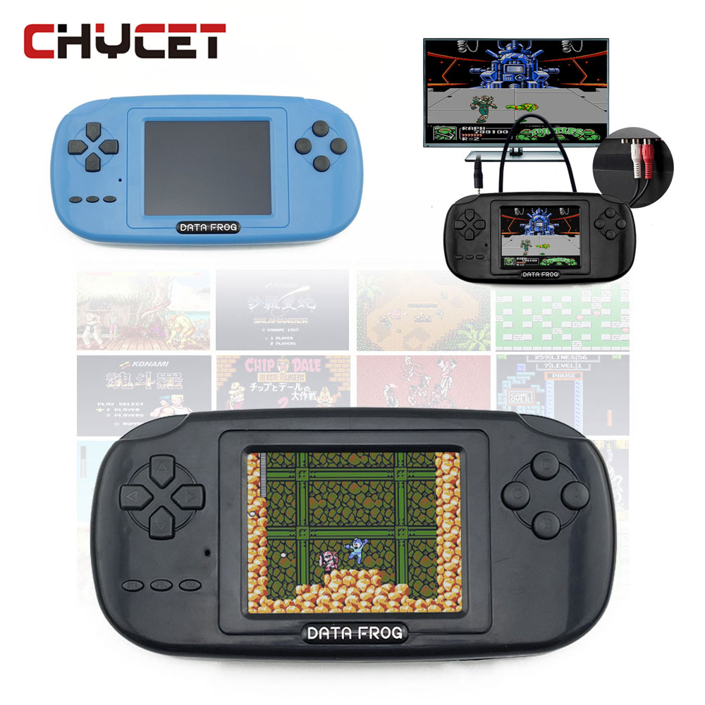 Data Frog Portable Handheld Game Players Gaming Consoles Built In 168 Classic Games For Kids Best Gift Video Game