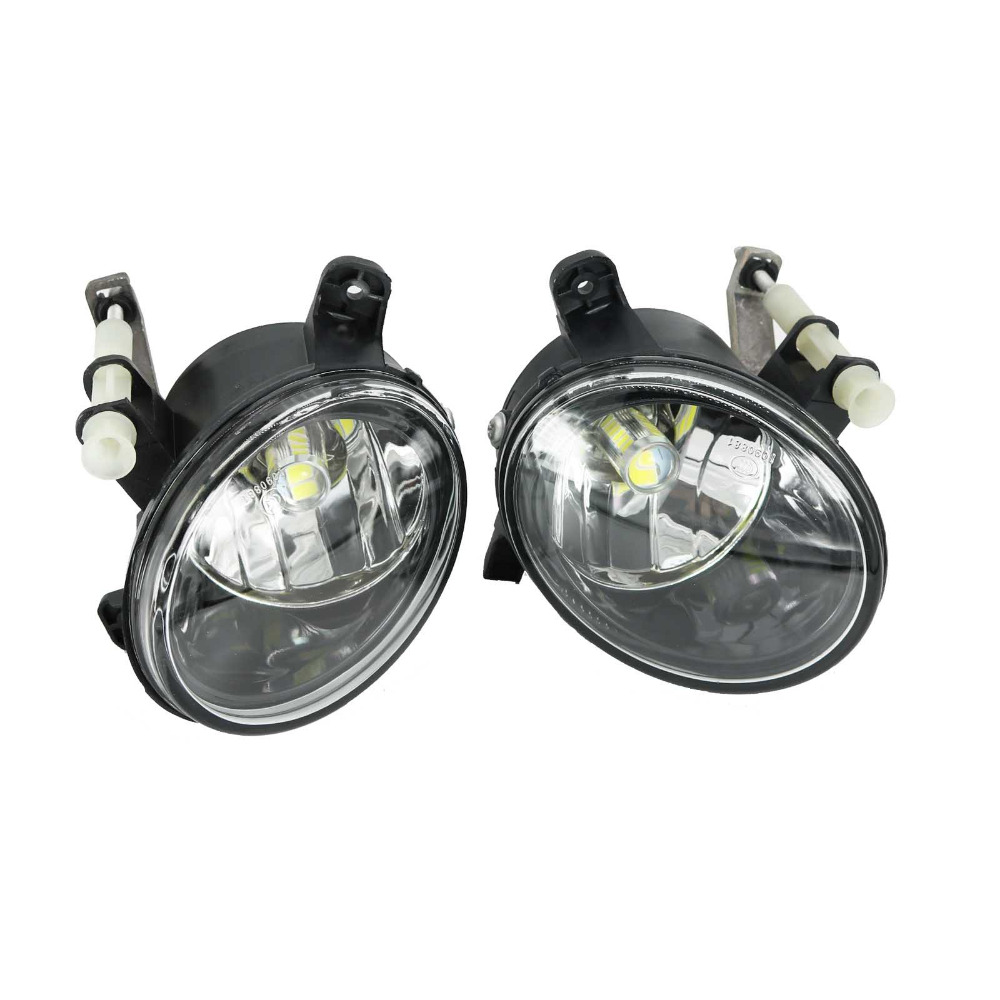 2Pcs LED Light For Audi Q5 2009 2010 2011 2012 2013 2014 2015 2016 2017 Front LED Bulb Fog Light Fog Lamp купить ауди q 5 2009