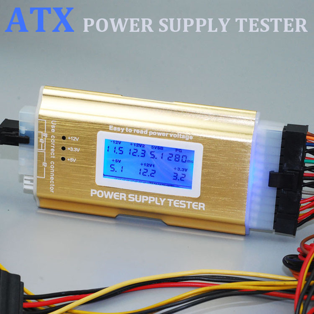 ATX Power supply Tester Chassis power detector Repair Tools ...