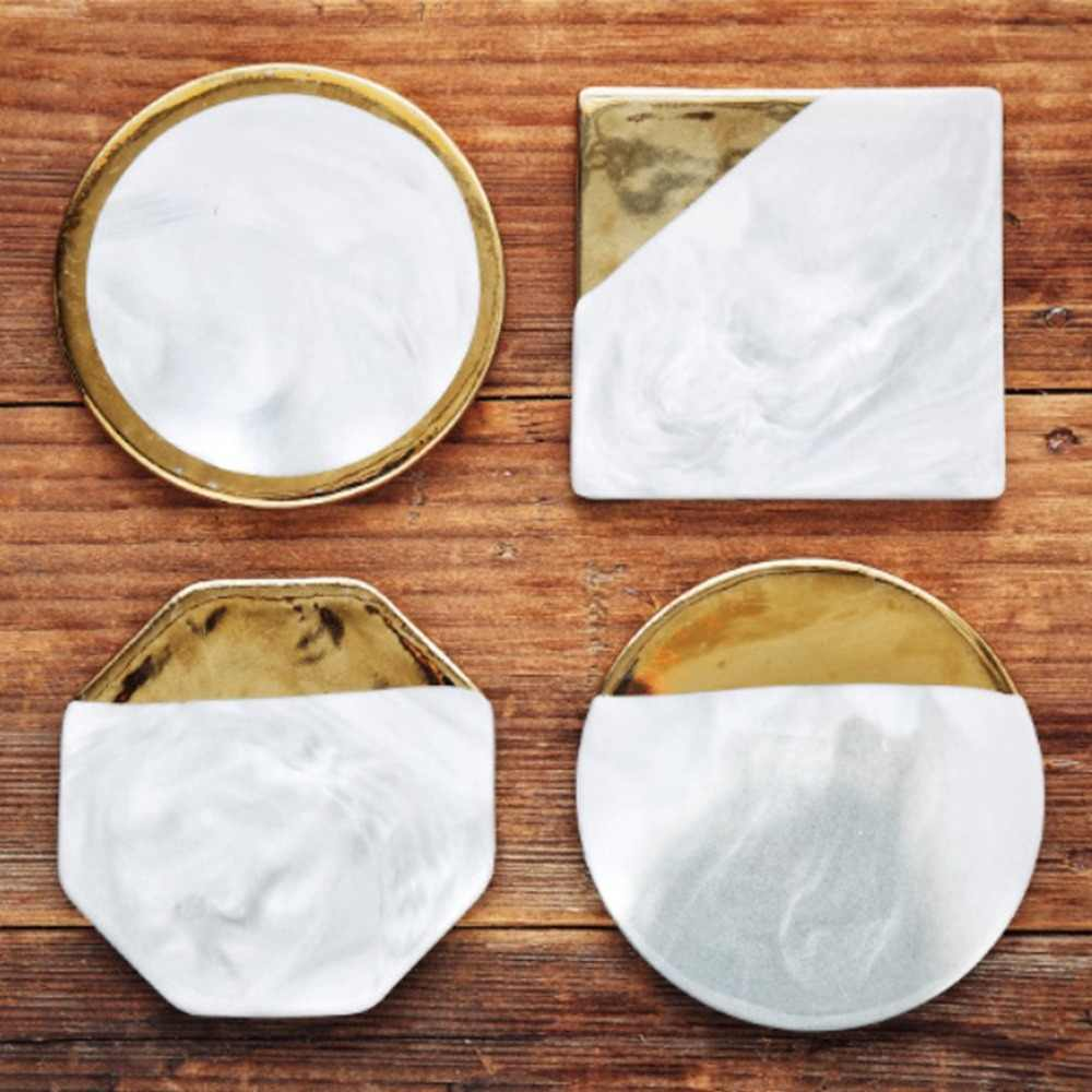 Creative Marbled Ceramic Coaster Pad Coffee Cup Mat Tea Pad