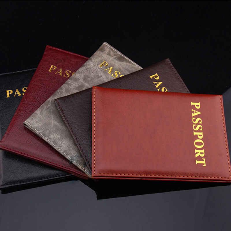 1 шт. Модный чехол из искусственной кожи для паспорта, Обложка для документов, Сумка для документов, повседневный дорожный Держатель для паспорта, чехол для карт