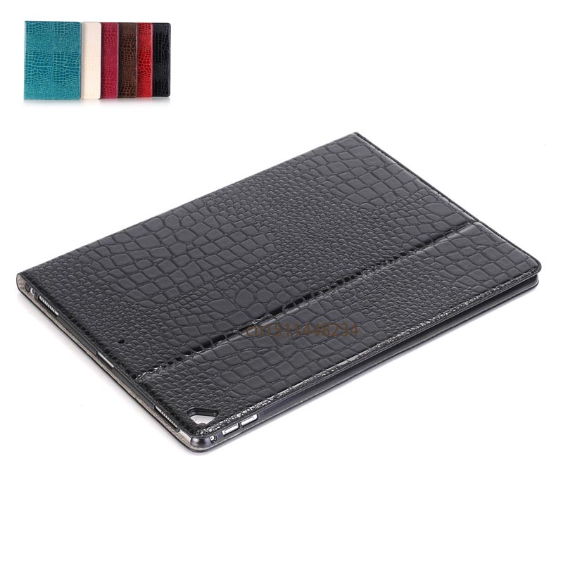 For New iPad Pro 12.9 2017 Case Cover,Fashion Crocodile PU Leather smart Tablet Cover for ipad pro new 12.9 magnetic Sleep Case nice flexible tpu silicone case for apple new 2017 ipad 9 7 cover protect smart cover partner clear transperent bottom back case