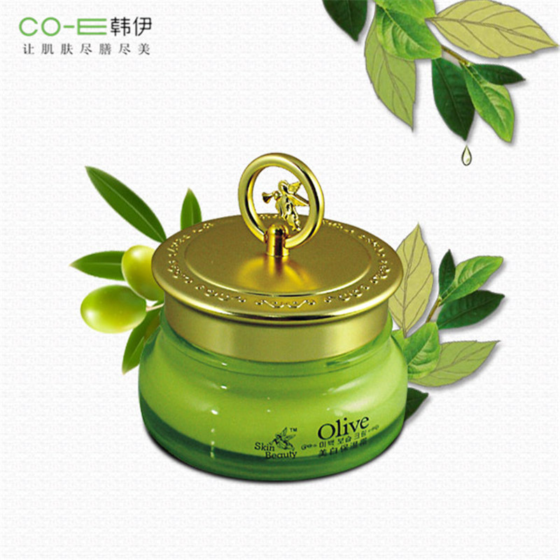цена на Top Women Skin Beauty Care Olive Oil Day Night Face Cream 50g Moisturizing Whitening Brighten Nourshing Pores Clean Oil Control