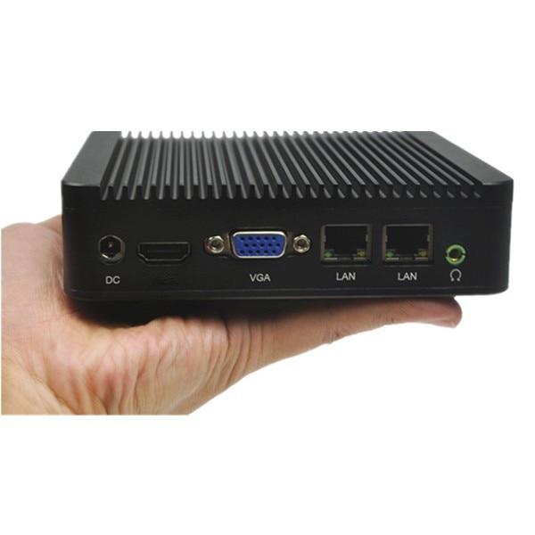 Fanless Dual Lan mini pc Qotom-Q100S celeron processor 1037u onboard WIFI support linux ubuntu X86 dual core micro media pc