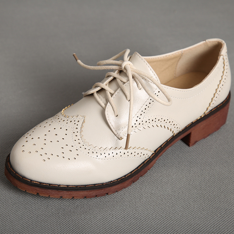 ФОТО US 4-11 Plus Size 40 41 42  New Trendy Womans Brogue Wing tips Cut-Outs Lace Up OXfords Retro Low Heels Casual Shoes