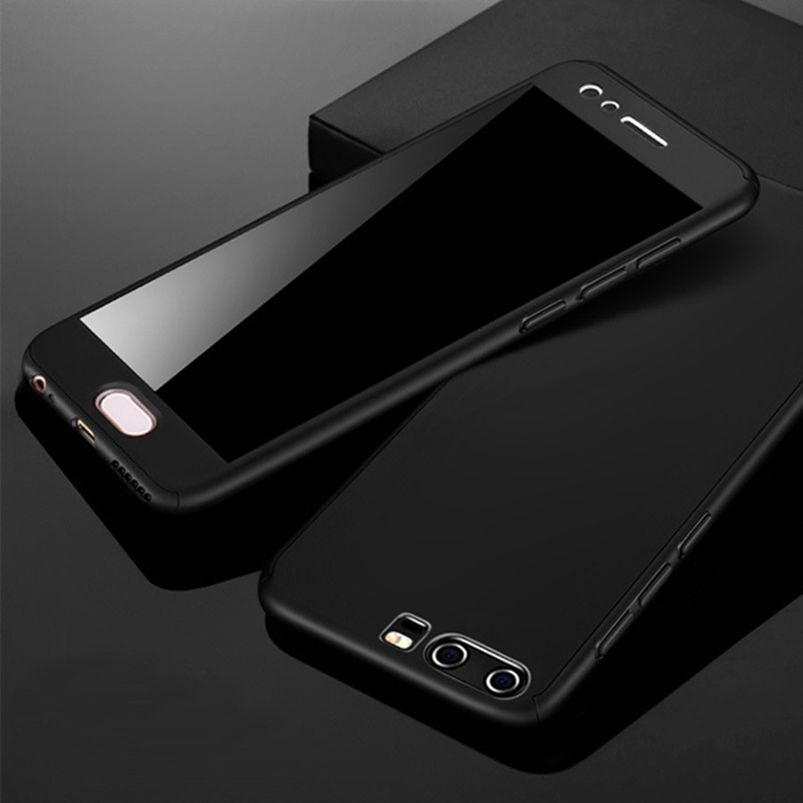 360 Degree Hard PC Armor Back Cover For Huawei y9 2019 ShockProof Cover For Huawei y6 Prime y9 2018 Cases With Tempered Glass (6)