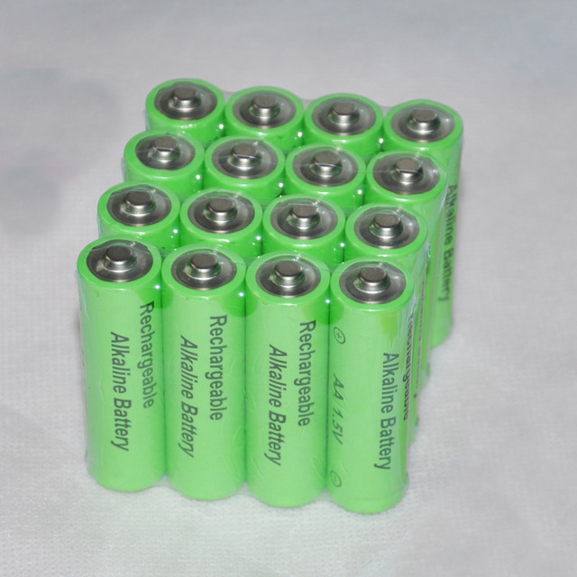 Rechargeable Alkaline Batteries >> 16pcs Alkaline 1 5v Aa Rechargeable Battery 14500 Cell 3000mah For