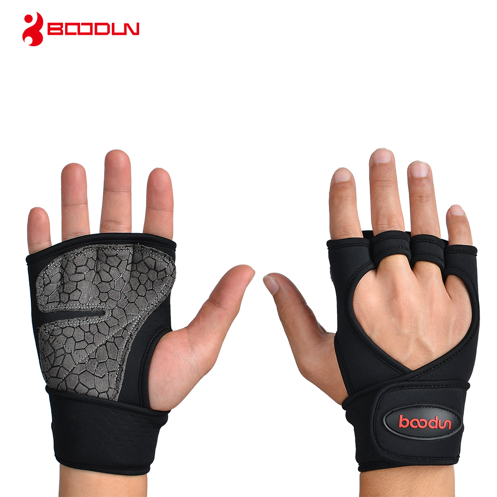 Responsible Boodun Men Women Half Finger Fitness Weight Lifting Gloves Professional With Extended Wristband For Workout Gym Fitness Riding Sports & Entertainment