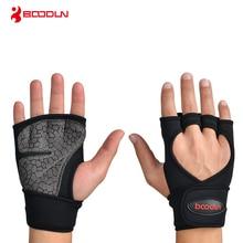 Boodun Hmotnost Zvedání Trénink Rukavice Muži Ženy Fitness Sport Sportovní tělo Gymnastika Gripy Gym Ruka Palm Ochranná rukavice Rukavice