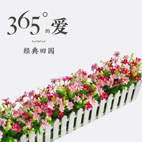 Ev ve Bahçe'ten Yapay ve Kurutulmuş Çiçekler'de Yüksek kaliteli 20 80 cm ahşap çit çiçek seti dekorasyon çiçek duvar çiçek yapay çiçek genel çiçek