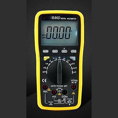 VC86D Digital Multimeter Temperature Capacitance Frequency Ohm AC/DC Volt Meter Backlight With USB Interface 1 pcs mastech ms8269 digital auto ranging multimeter dmm test capacitance frequency worldwide store