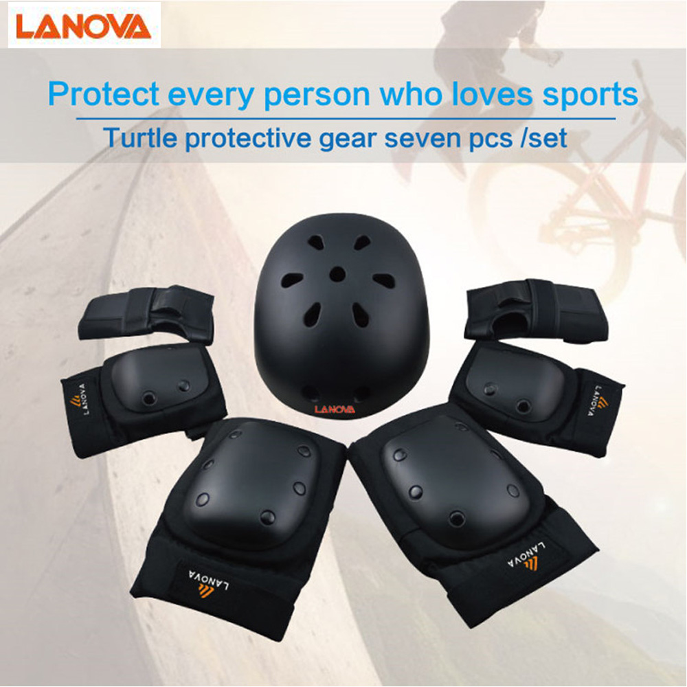 LANOVA 7pcs/Set protective patins Set Knee Pads Elbow Pads Wrist Protector Protection for Scooter Cycling Roller Skating helmet LANOVA 7pcs/Set protective patins Set Knee Pads Elbow Pads Wrist Protector Protection for Scooter Cycling Roller Skating helmet