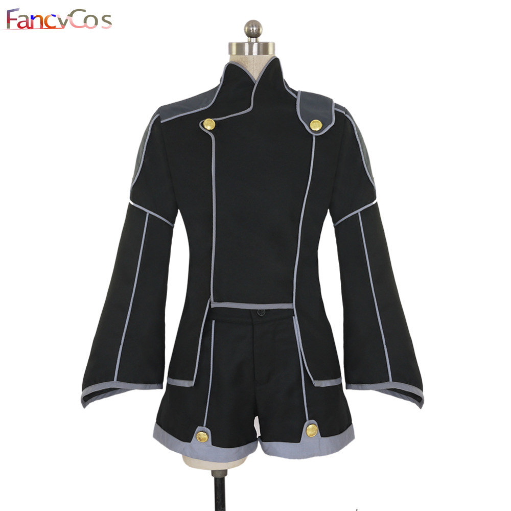Halloween Code Geass Lelouch of the Rebellion The Black Knights Uniform Cosplay Costumes Adult Costume Movie High Quality custom