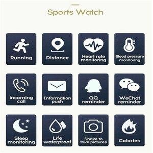 Image 3 - Mode Sport Smart Uhr Männer Frauen Für Android IOS Smartwatch Fitness Tracker Wasserdichte Intelligente Uhr Smartwach Neue Armbanduhr